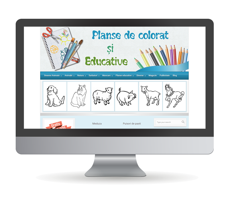 planse de colorat